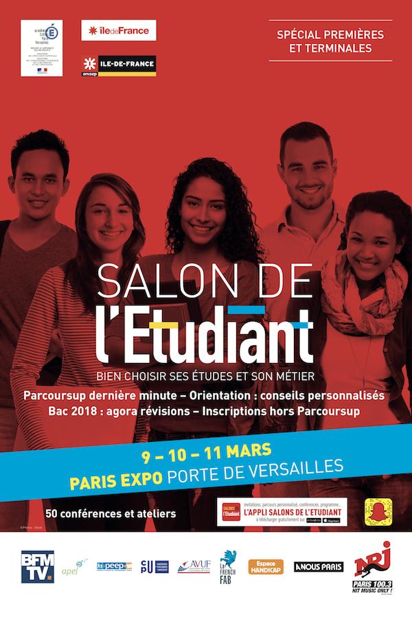 Salon de l tudiant parcours sup mecavenir for Salon etudiant porte de versailles 2016