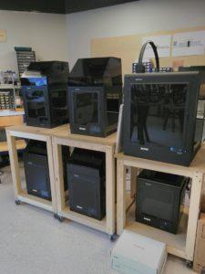 Nos imprimantes 3D dans le FabLab de Paris Sorbonne Université